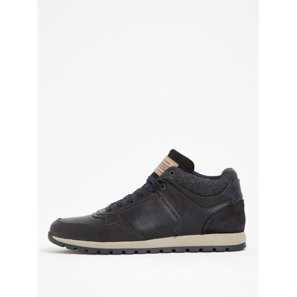 Pantofi sport negri din piele naturală Bullboxer
