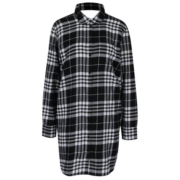 Rochie - cămașă în carouri negru & alb - Cheap Monday