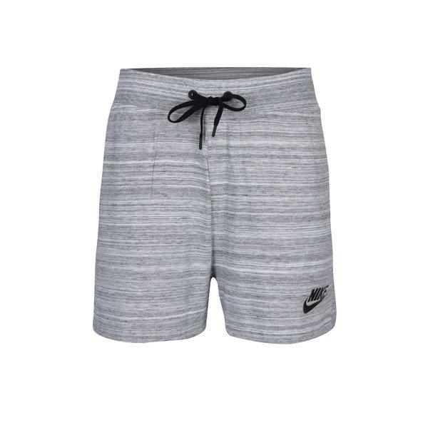 Pantaloni scurți sport gri melanj pentru femei Nike Sportswear Advance 15