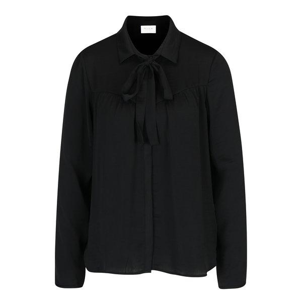 Bluză neagră cu fundă VILA Melli