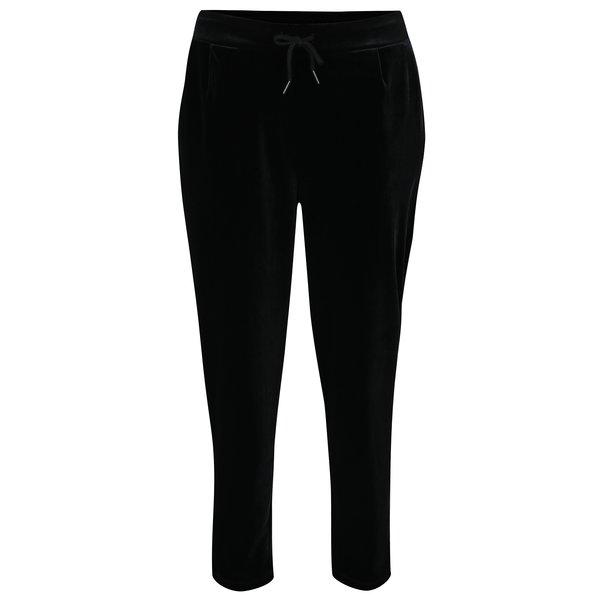 Pantaloni negri din catifea VILA Class