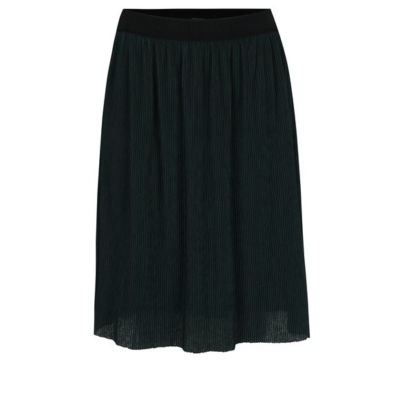 Fustă verde plisată cu talie elastică VERO MODA Mila