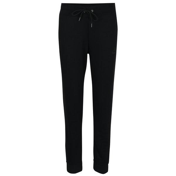 Pantaloni sport negri cu șnur în talie Nike Sportswear Modern