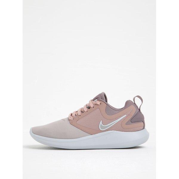 Pantofi sport roz cu alb de alergat pentru femei Nike Lunarsolo