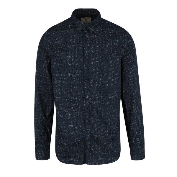 Camasa bleumarin cu print pentru barbati Garcia Jeans