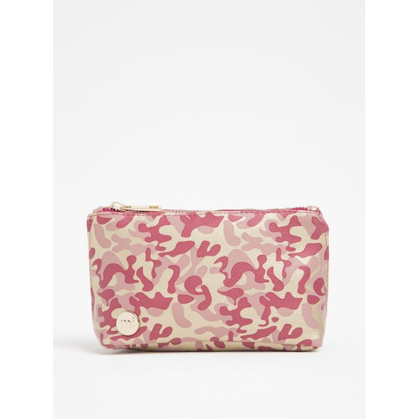 Portfard roz cu print camuflaj - Mi-Pac Make Up Bag