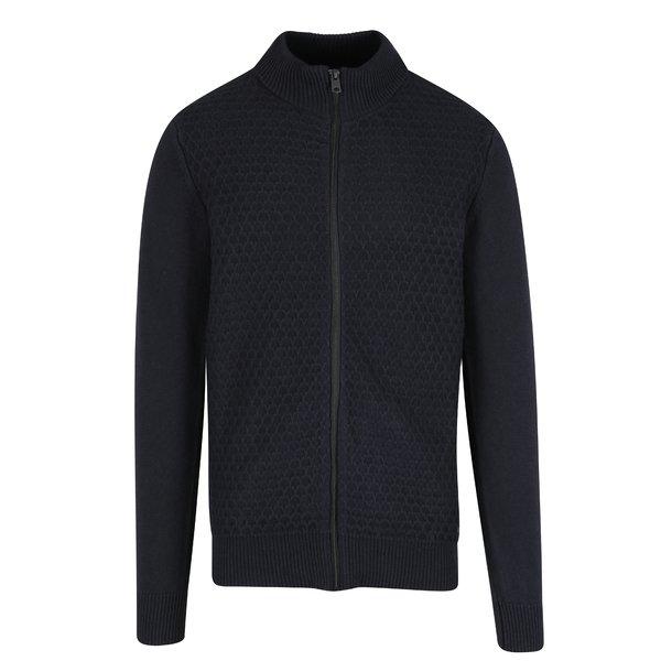 Cardigan bleumarin din amestec de lana pentru barbati Garcia Jeans