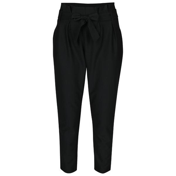 Pantaloni negri cu funda in talie – VERO MODA Jussi