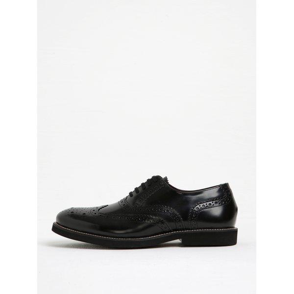 Pantofi brogue negri din piele naturală pentru bărbați - London Brogues Farnham