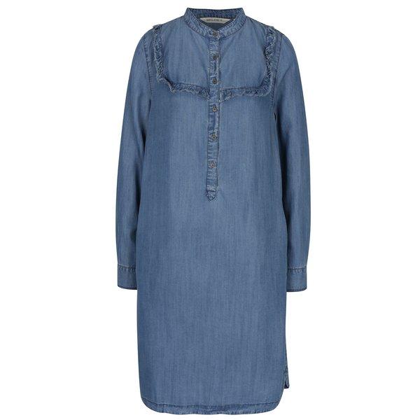 Rochie camasa midi albastru deschis din denim – Garcia Jeans