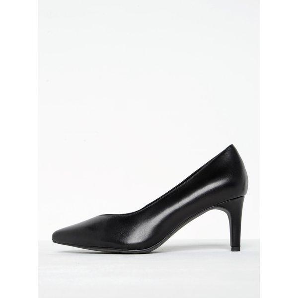 Pantofi clasici negri din piele cu toc stiletto Tamaris