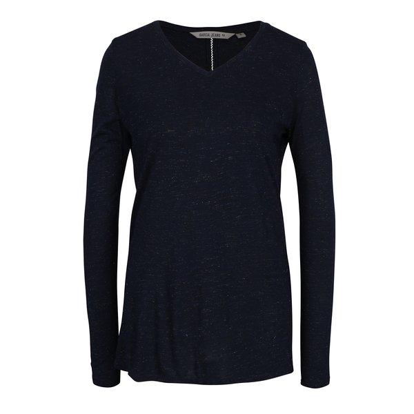 Bluza bleumarin cu maneci lungi si decupaj la spate Garcia Jeans