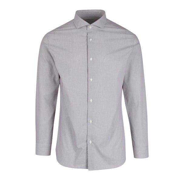 Cămasă alb & visiniu în dungi slim-fit Selected Homme Donesel