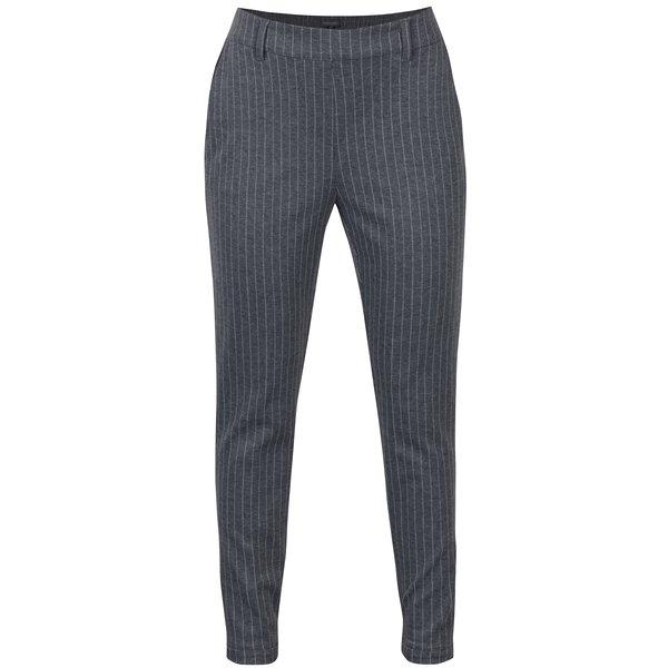 Pantaloni gri în dungi cu talie elastică Broadway Danelle