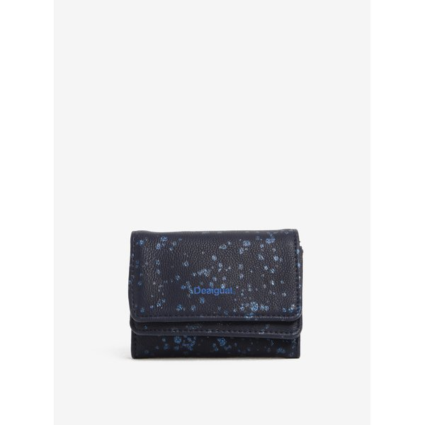 Portofel bleumarin cu print Desigual Mix Metal Splattter