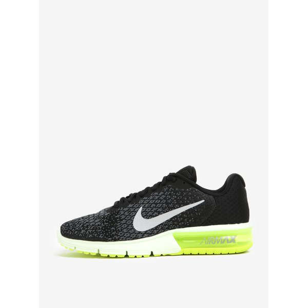 Pantofi sport negru cu gri de alergat pentru bărbați Nike Air Max Sequent