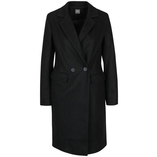 Palton negru cu revere și buzunare - ZOOT
