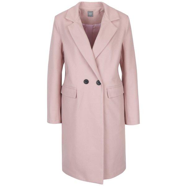 Palton roz deschis cu revere și buzunare - ZOOT