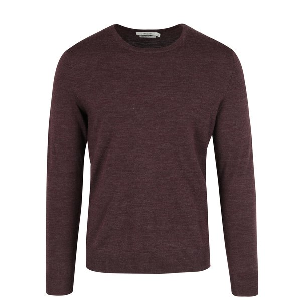 Pulover bordo din lână Jack & Jones Premium Mark