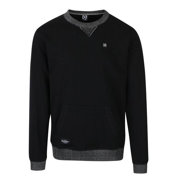 Bluză neagră cu buzunar kangaroo Horsefeathers Tyrell