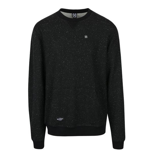 Bluză neagră cu textură și buzunar de cangur Horsefeathers Tyrell