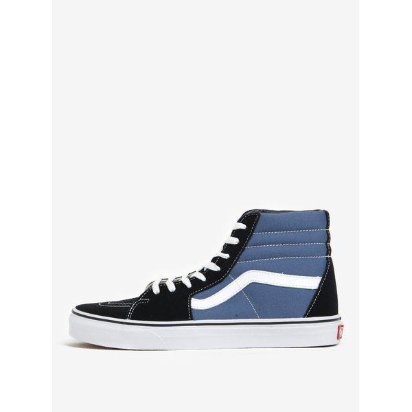 Teniși înalți din piele și textil albastru & negru - Vans SK8-Hi