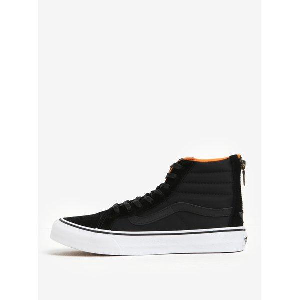 Pantofi sport înalți din piele și textil pentru femei - VANS SK8-Hi