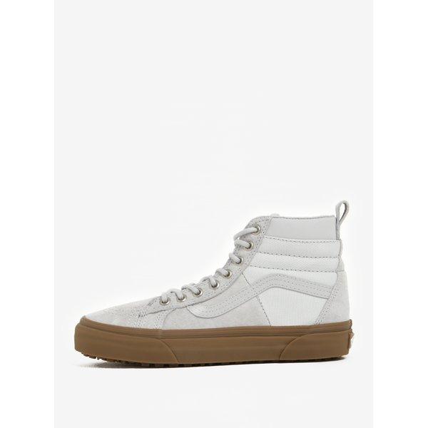 Pantofi sport înalți gri din piele întoarsă pentru femei - VANS SK8-Hi 46