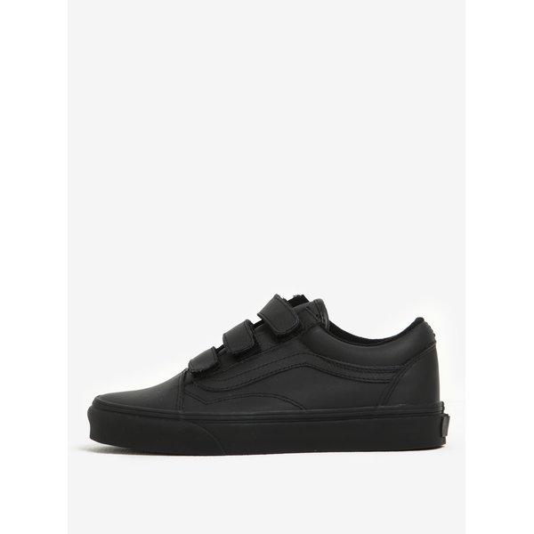 Pantofi sport unisex negri din piele - VANS Old Skool