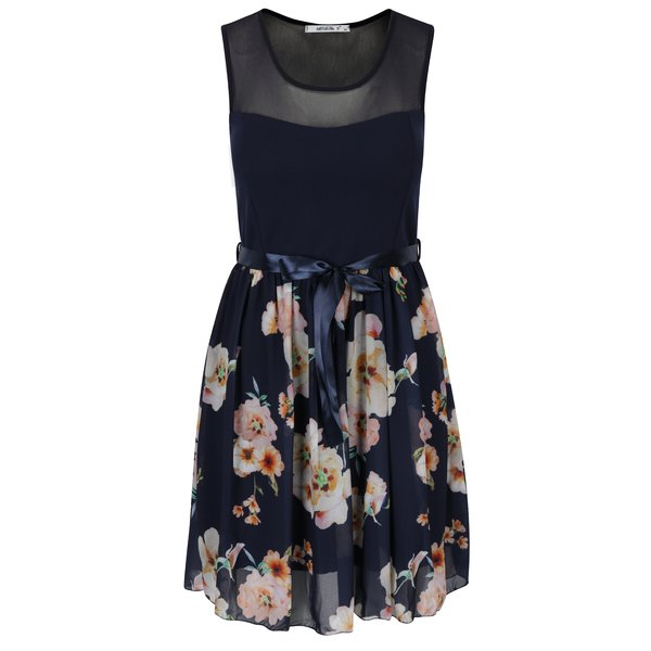 Rochie bleumarin cu print floral - Hailys Nell