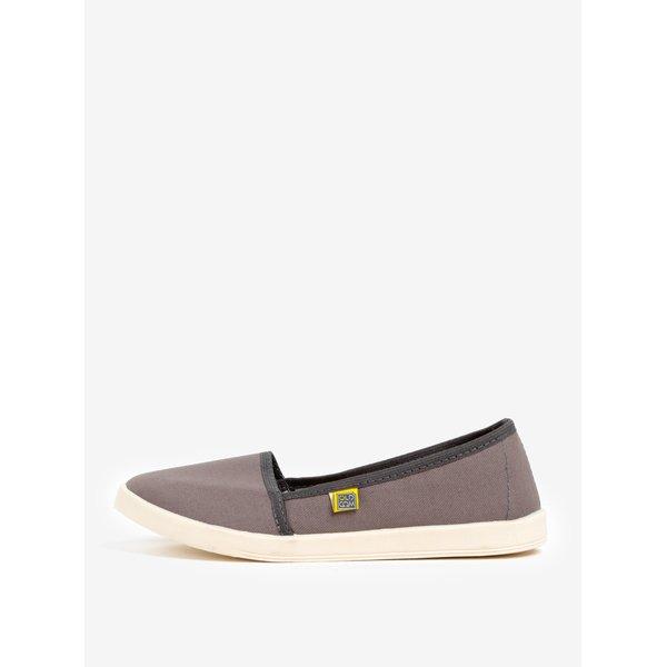 Pantofi slip on gri din material textil Oldcom Canvas