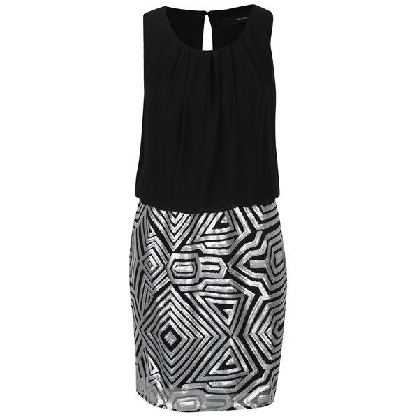 Rochie negru cu argintiu cu paiete VERO MODA Silje