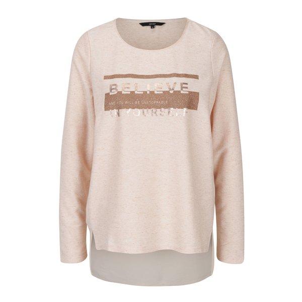 Bluză roz cu print VERO MODA Sasha