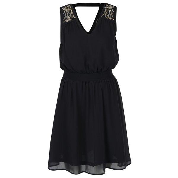 Rochie neagră din voal cu decupaj la spate VERO MODA Lollie