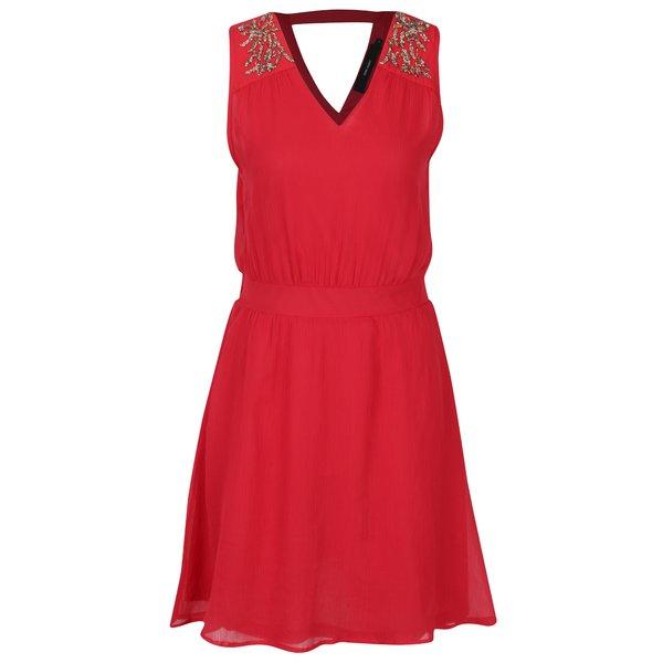 Rochie roșie din voal cu decupaj la spate VERO MODA Lollie