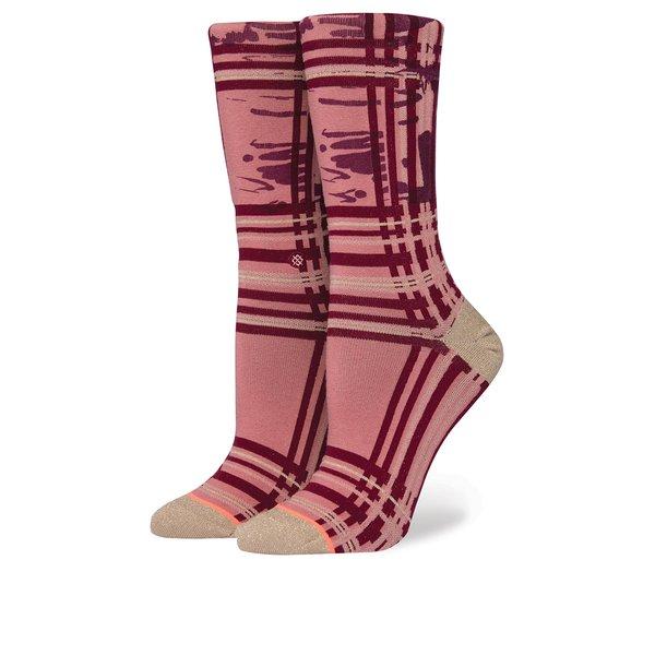 Șosete roz & bordo cu print geometric pentru femei - Stance Carroll Gardens