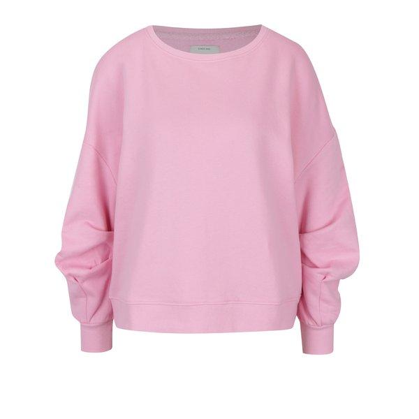 Bluză roz cu drapaje pe mâneci ONLY June