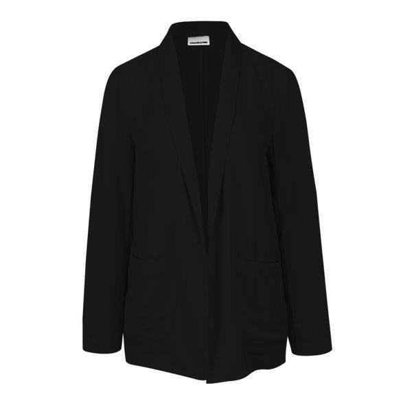 Sacou negru oversized fără închidere Noisy May Logan