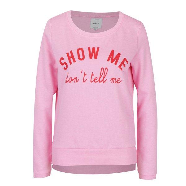 Bluză sport roz cu șlițuri ONLY Sound