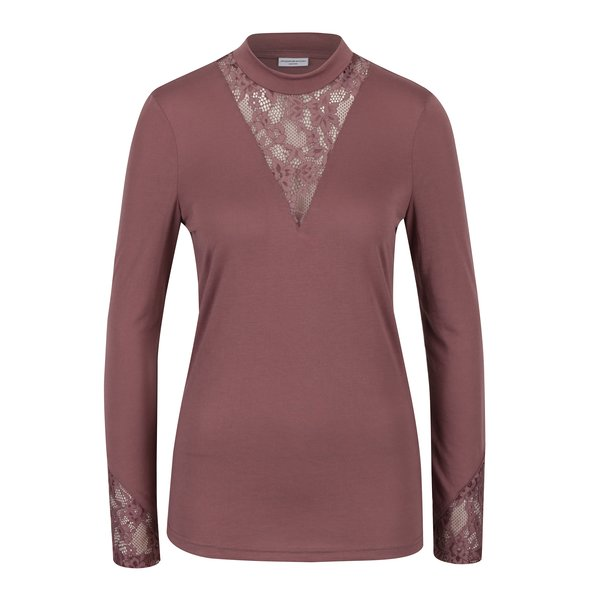 Bluză roz prăfuit cu inserții din dantelă - Jacqueline de Yong Fabia