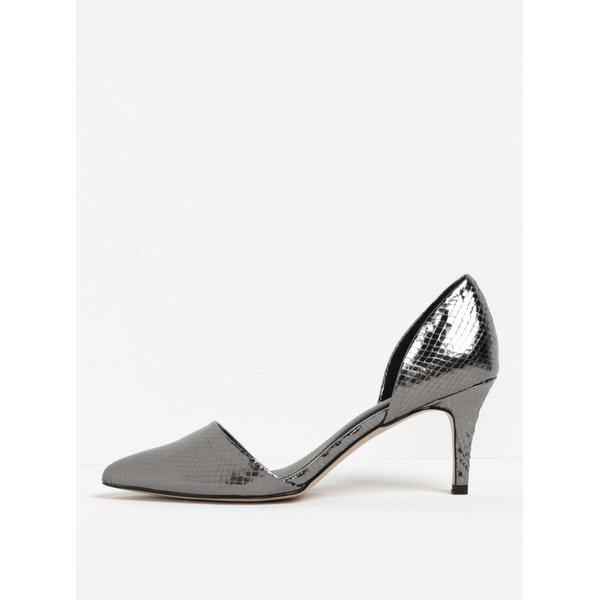 Pantofi argintii cu toc și vârf ascuțit - Miss KG Celina
