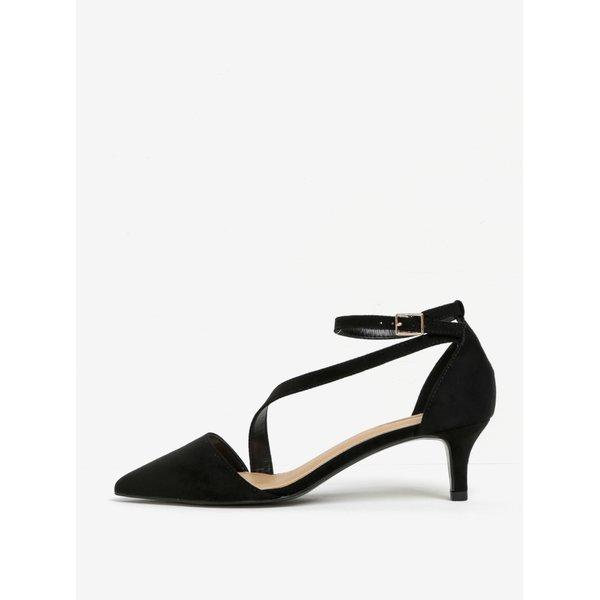 Sandale negre cu toc și baretă pe gleznă - Miss KG Archer