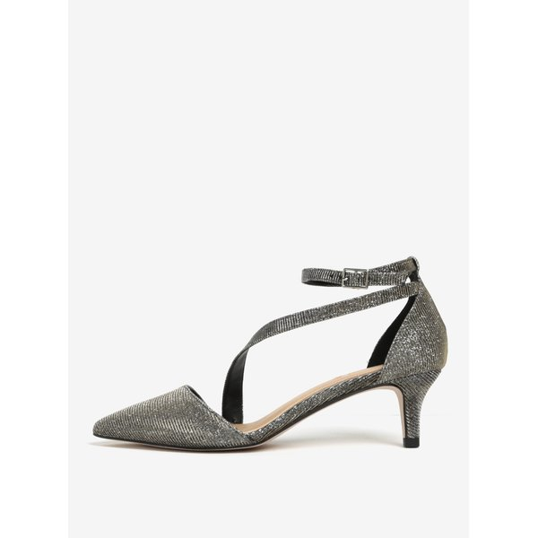 Pantofi aurii cu aspect strălucitor și baretă pe gleznă - Miss KG Archer