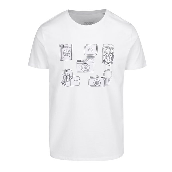 Tricou alb cu print camere foto pentru bărbați ZOOT Original Foto