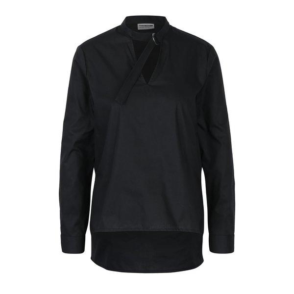 Bluza asimetrica neagra cu guler choker Noisy May Devisonare
