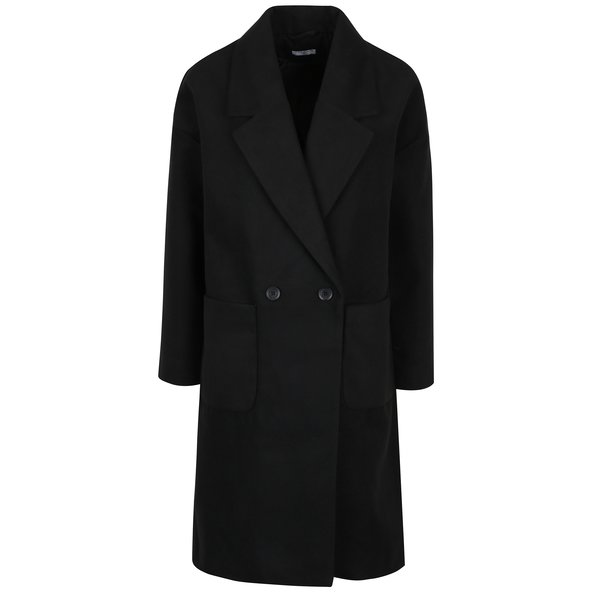 Palton negru lung pentru femei - Yong Kelly