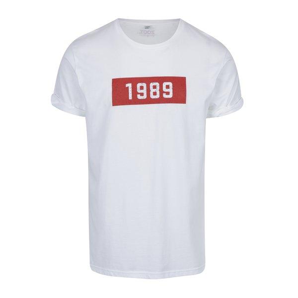 Tricou alb cu print pentru bărbați ZOOT Original 1989