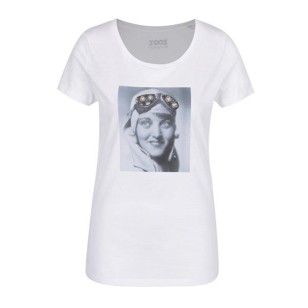 Tricou alb cu print portret ZOOT Original Kaleidoskop