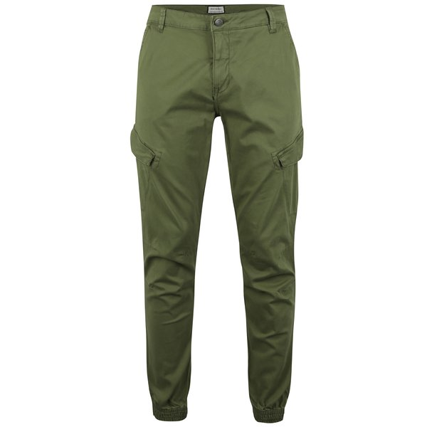 Pantaloni verzi cargo pentru barbati Shine Original