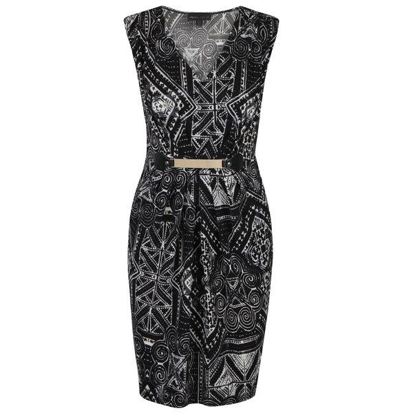 Rochie neagră cu detaliu auriu Mela London